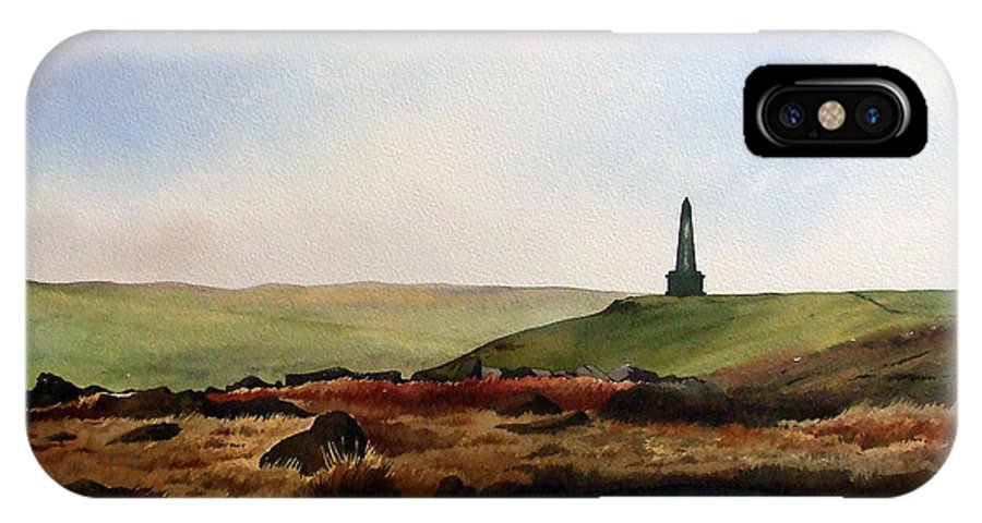 Landscape IPhone X Case featuring the painting Stoodley Pike by Paul Dene Marlor