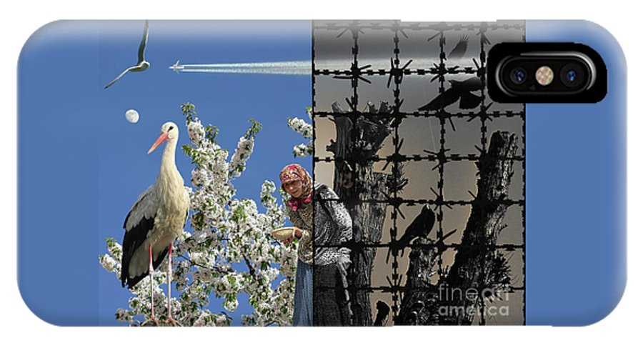 Stop Chemtrails IPhone X Case featuring the photograph Stop Chemtrails by Mira Ostojic