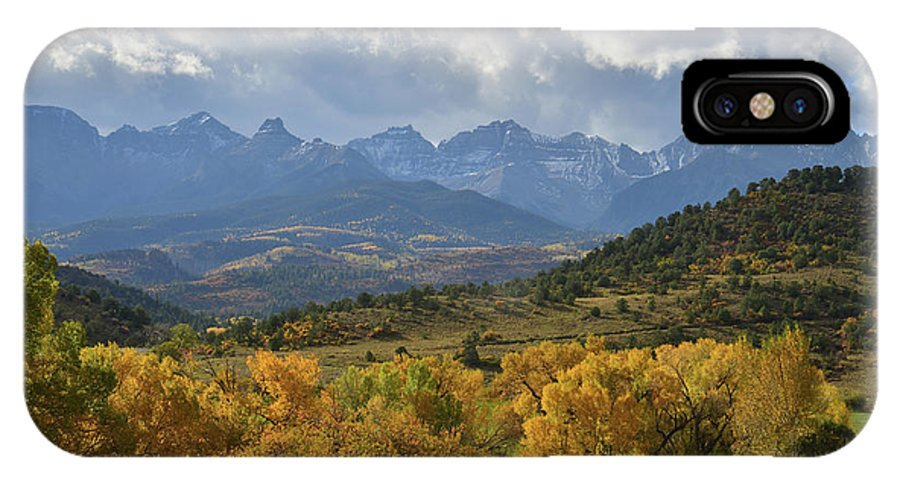 Colorado IPhone X Case featuring the photograph Storm Approaching County Road 7 by Ray Mathis