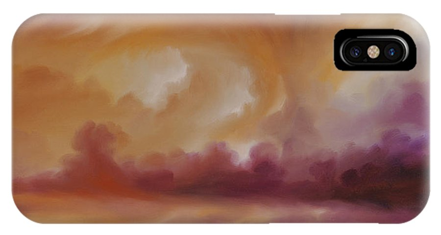 Tempest IPhone X Case featuring the painting Storm Clouds 2 by James Christopher Hill