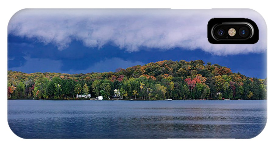 Lake IPhone X Case featuring the photograph Storm Clouds Over The Lake Of Bays by Oleksiy Maksymenko