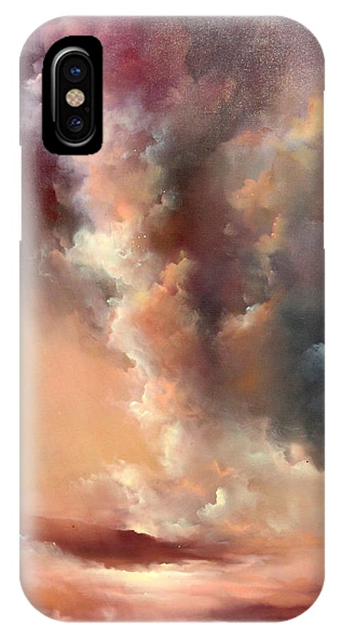 Clouds IPhone Case featuring the painting Storm Clouds Rising by Sally Seago