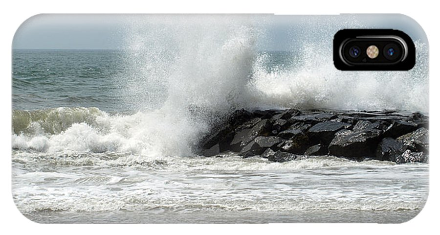 Beach IPhone X Case featuring the photograph The Ocean's Strength by Terrie Stickle
