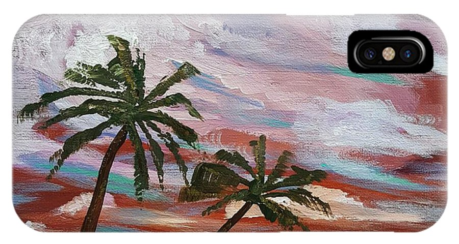 Storm IPhone X Case featuring the painting Storm Of Contrast by Steve Duke - Artist