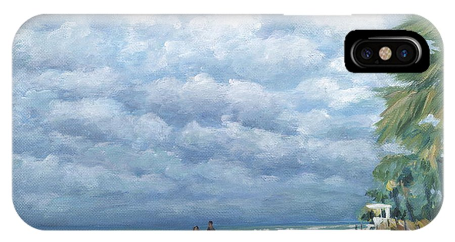 Fort Lauderdale IPhone X / XS Case featuring the painting Storm On The Horizon by Danielle Perry