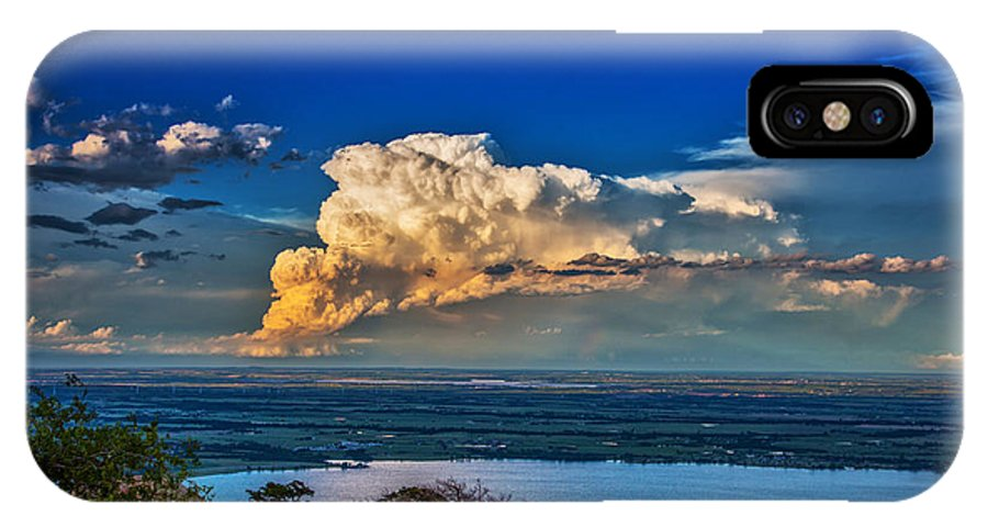 Supercell IPhone X / XS Case featuring the photograph Storm On The Horizon by James Menzies