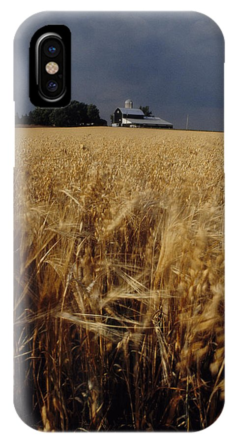 Wheat IPhone Case featuring the photograph Storm Over Wheat Field by Steve Somerville