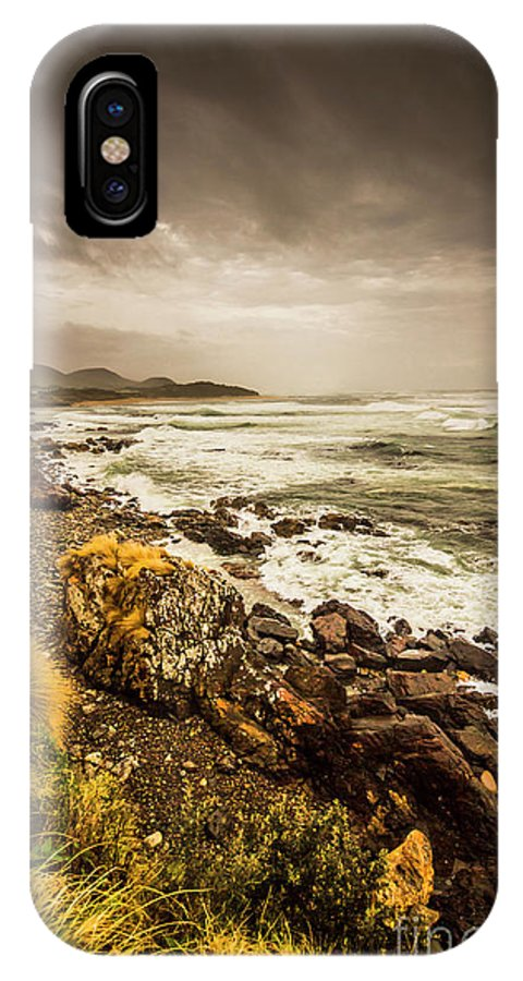 Overcast IPhone X Case featuring the photograph Storm Season by Jorgo Photography - Wall Art Gallery