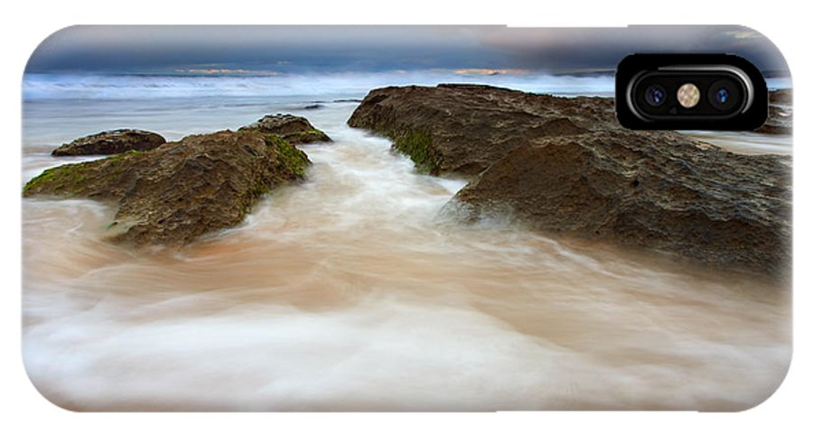 Seascape IPhone X Case featuring the photograph Storm Shadow by Mike Dawson
