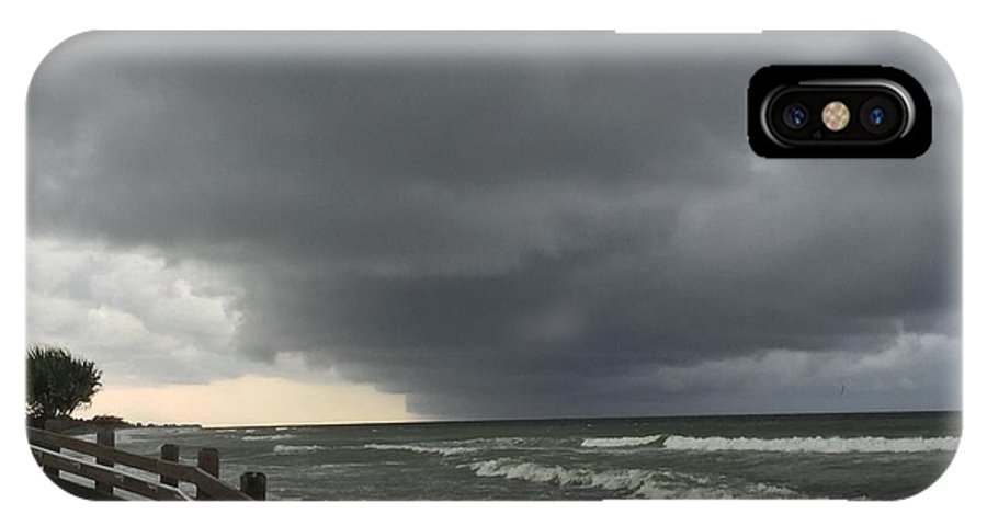 Landscape IPhone X Case featuring the photograph Stormy Caspersen Beach by Kenneth Christenson