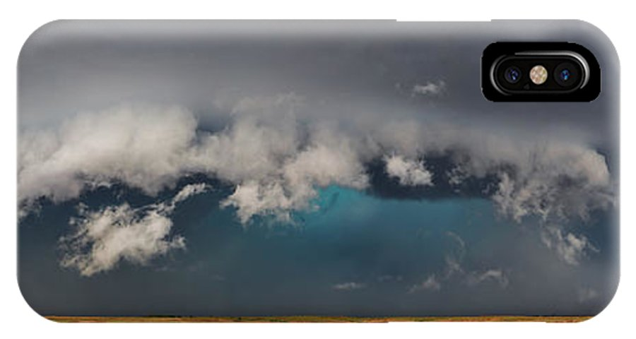 Supercell IPhone X / XS Case featuring the photograph Stormy Horizon by James Menzies