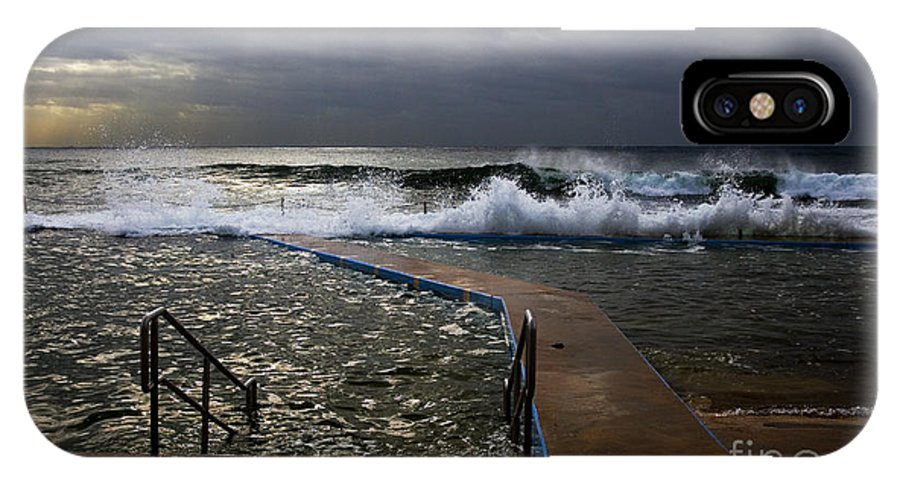 Storm Clouds Collaroy Beach Australia IPhone X / XS Case featuring the photograph Stormy Morning At Collaroy by Sheila Smart Fine Art Photography