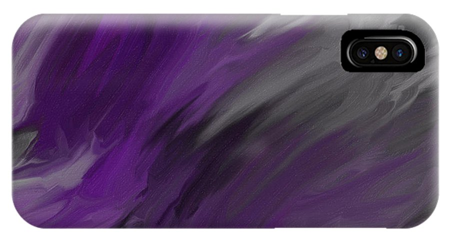 Abstract IPhone X / XS Case featuring the painting Stormy Night by Jessica Harper-Haggler