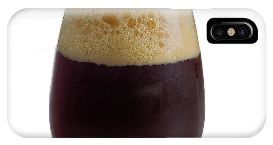 Beer IPhone X Case featuring the photograph Stout Beer In Stemless Glass by Thomas Baker
