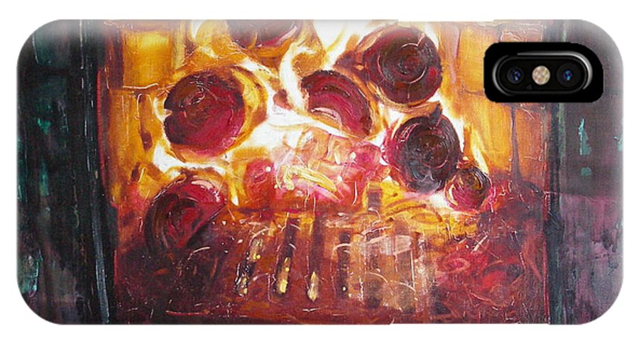 Oil IPhone Case featuring the painting Stove by Sergey Ignatenko