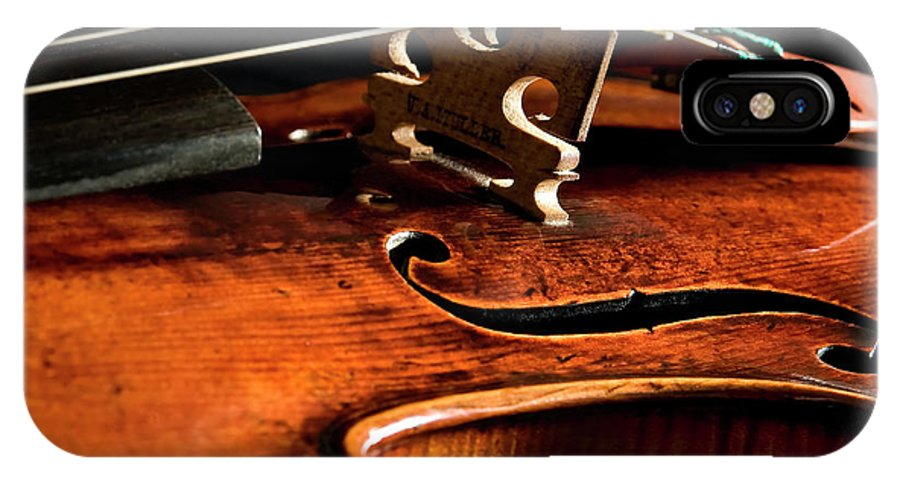 Strad IPhone X Case featuring the photograph Stradivarius by Endre Balogh