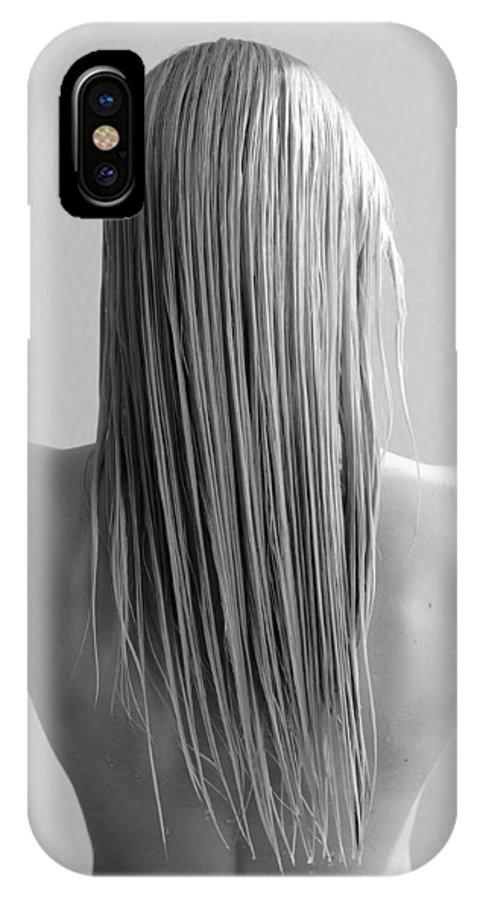 Long Blonde Hair IPhone X Case featuring the photograph Straight Hair by Bill Munster