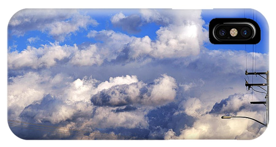 Clay IPhone X Case featuring the photograph Strange Clouds by Clayton Bruster