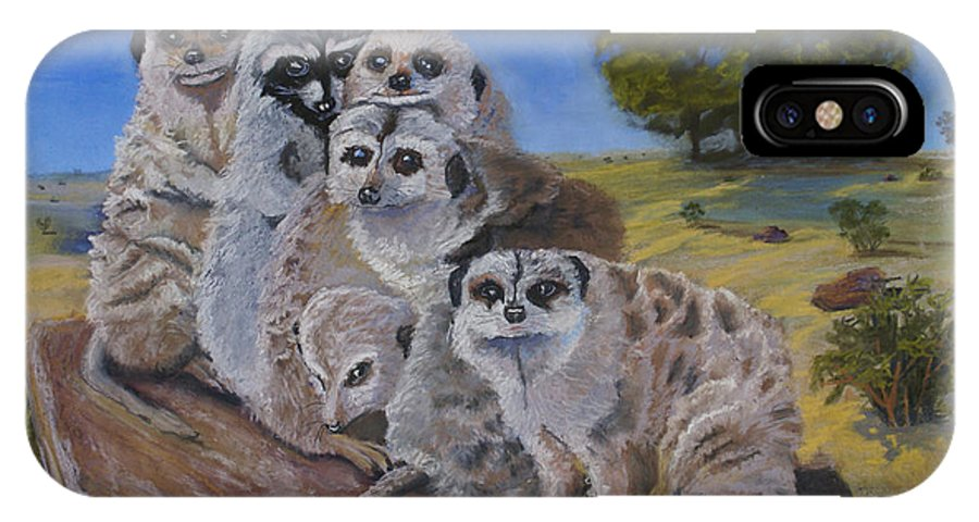 Meer Cat IPhone Case featuring the painting Stranger In A Strange Land by Heather Coen
