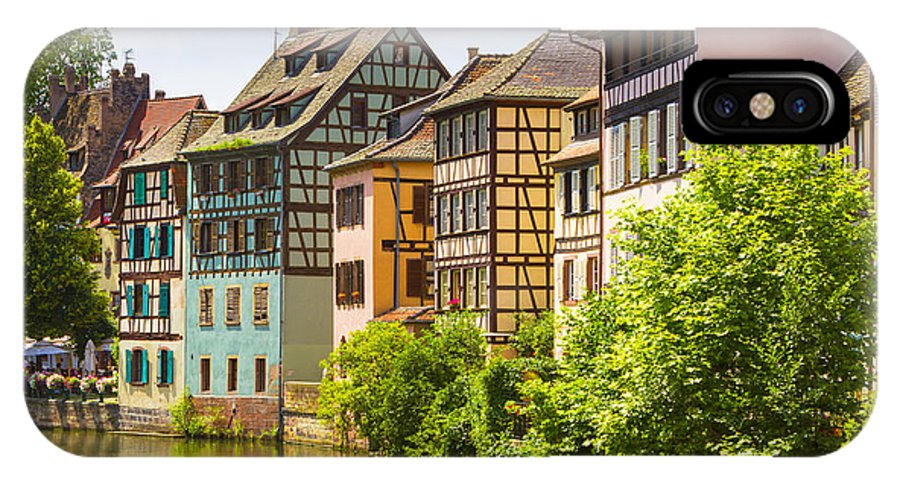 Alsace IPhone X Case featuring the photograph Strasbourg, Half-tmbered Houses, Petite France, Alsace, France by Marco Arduino