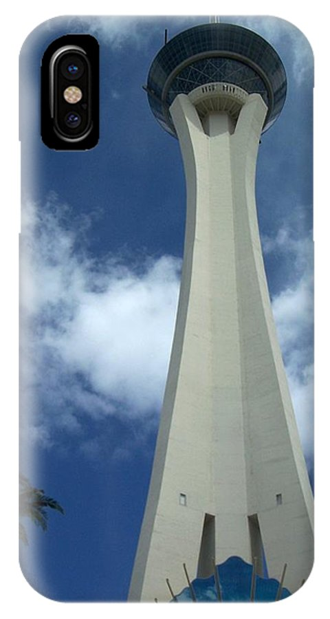 Stratosphere Tower IPhone X Case featuring the photograph Stratosphere Tower by Anita Burgermeister