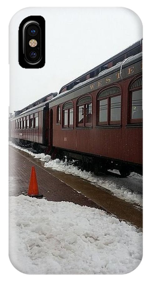 Winter Time IPhone X Case featuring the photograph Strausburg Railroad by William Rogers