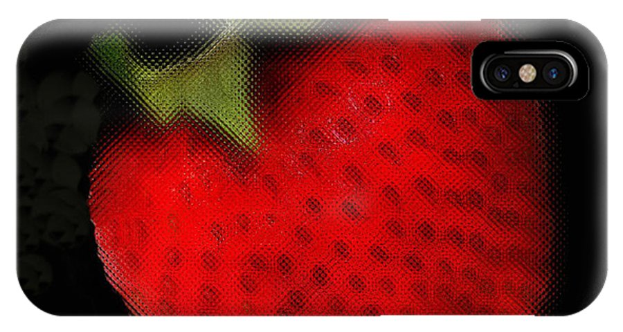 Still Life IPhone Case featuring the photograph Strawberry by Linda Sannuti