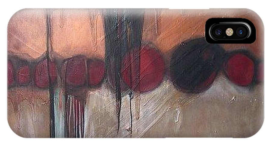 Metallics IPhone X Case featuring the painting Streak by Marlene Burns