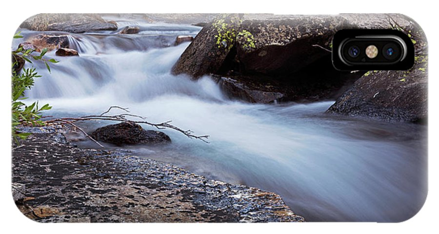 Streams IPhone X Case featuring the photograph Stream #3 by David Lunde