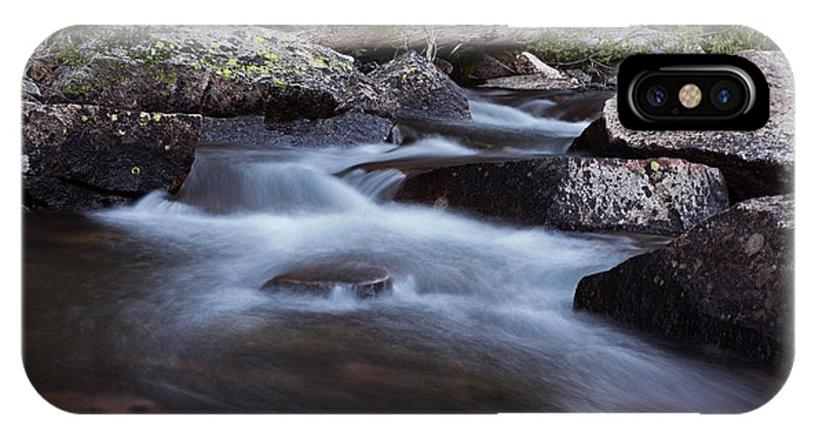 Streams IPhone X Case featuring the photograph Stream #4 by David Lunde