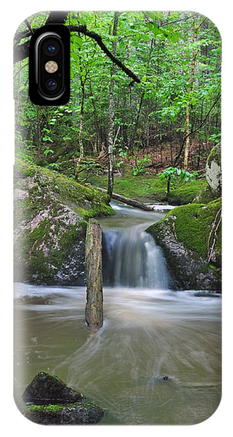 Waterfall IPhone X Case featuring the photograph Stream Waterfall by Glenn Gordon