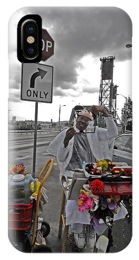 Street IPhone X Case featuring the photograph Street Jester by Robert Ponzoni