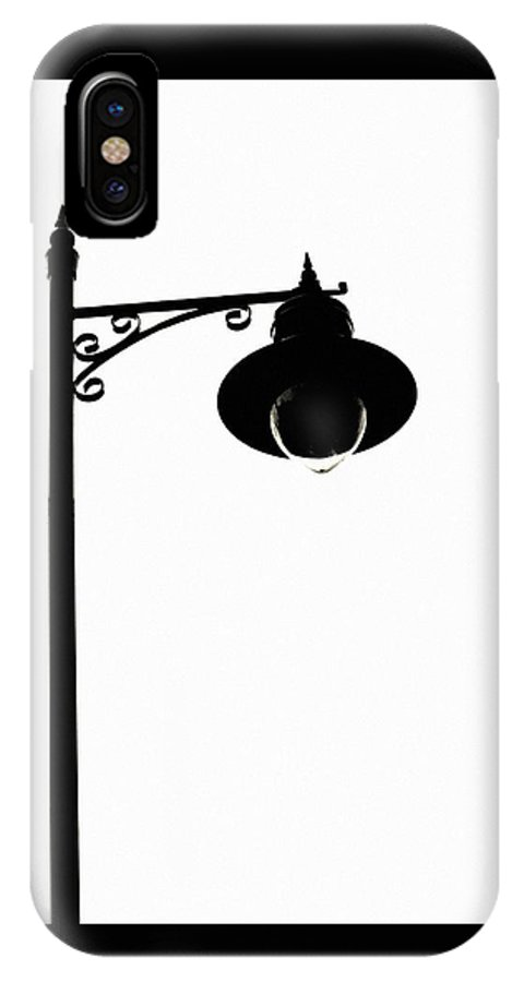 Street Light IPhone X Case featuring the photograph Street Light Silhouette by Martine Murphy