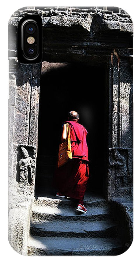 Photographs Of Buddha Monks IPhone X Case featuring the painting Street Photogrphy by Sandip Ghodke