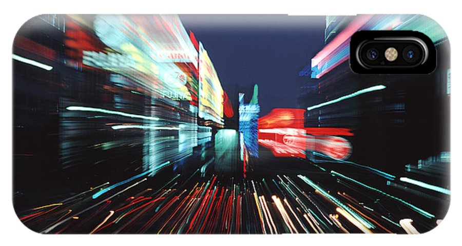 Ginza District IPhone X Case featuring the photograph Street Scene In Tokyos Ginza District by Ira Block