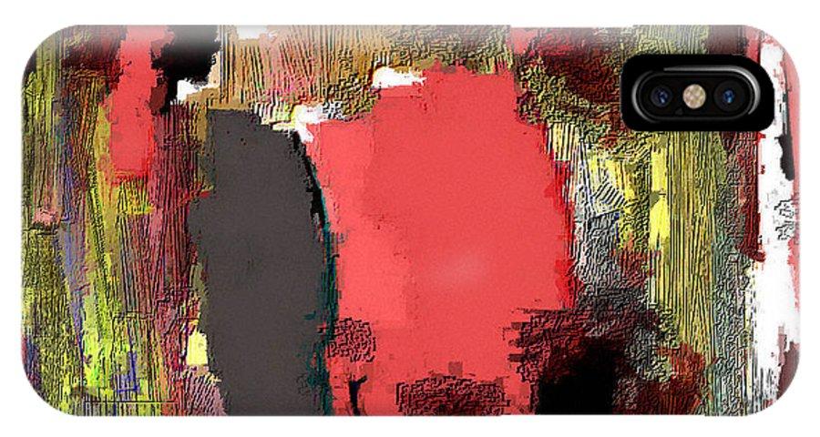 Digital IPhone X Case featuring the digital art Stressy Times by Ilona Burchard