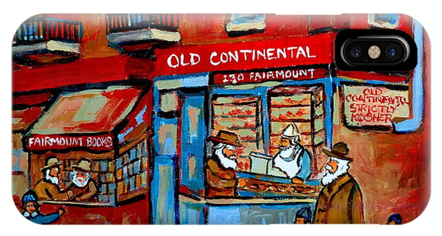 Old Continental On Fairmount IPhone Case featuring the painting Strictly Kosher by Carole Spandau