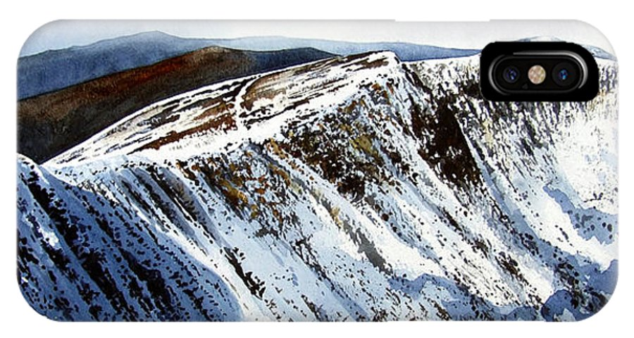 Helvellin IPhone Case featuring the painting Striding Edge Leading To Helvellin Sumit by Paul Dene Marlor