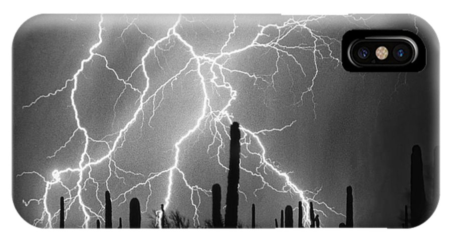 Arizona IPhone X Case featuring the photograph Striking Photography In Black And White by James BO Insogna