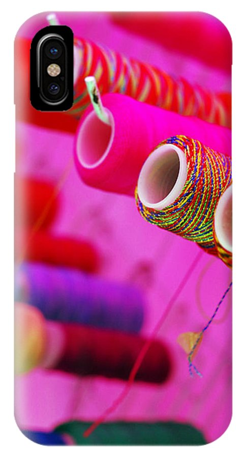 Color IPhone X Case featuring the photograph String Theory by Skip Hunt