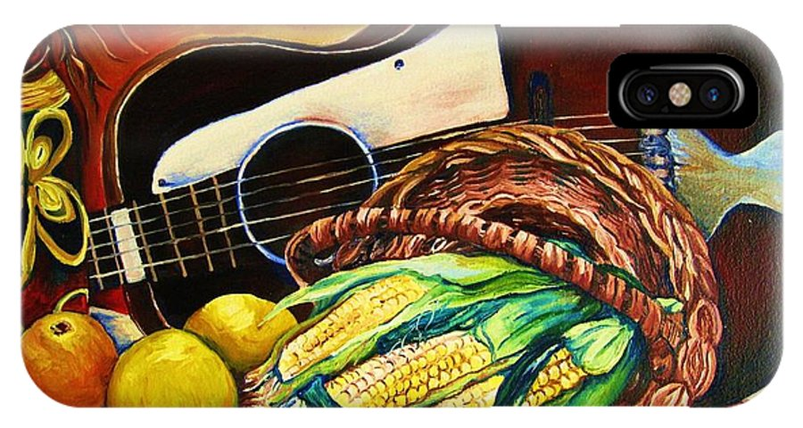 Country Life IPhone Case featuring the painting Strings Attached by Carole Spandau