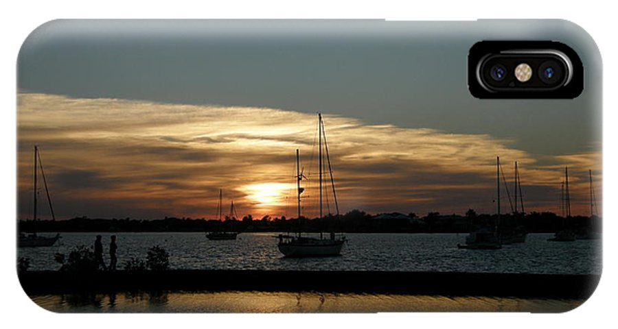 Sun IPhone X Case featuring the photograph Strolling In The Sunset by Kimberly Mohlenhoff