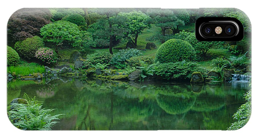 Portland IPhone X Case featuring the photograph Strolling Pond Serenity by Don Schwartz