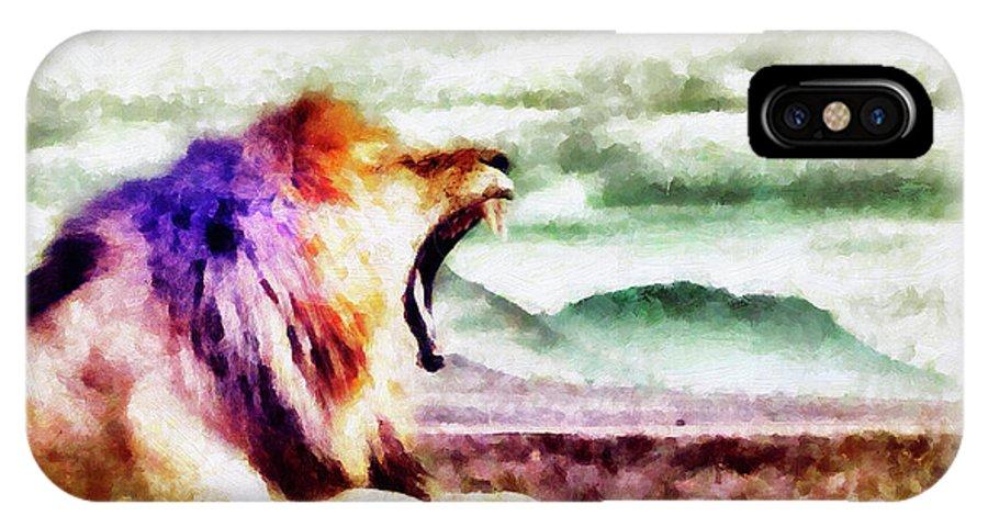 Artacademy IPhone X Case featuring the painting Strondo by Diretoria do Design - DD