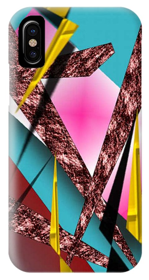 Abstracts IPhone X Case featuring the digital art Structure by Brenda L Spencer