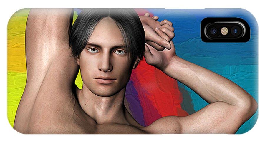 Person IPhone X Case featuring the digital art Studio Man Render 27 by Carlos Diaz