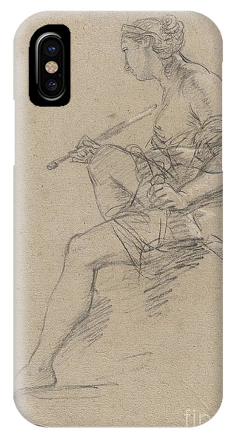 IPhone X Case featuring the drawing Study For An Allegory Of Painting by Etienne Parrocel