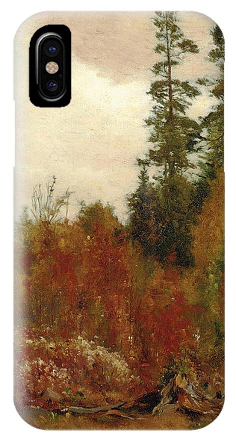 Jervis Mcentee IPhone X Case featuring the painting Study Near Schulls by Jervis McEntee