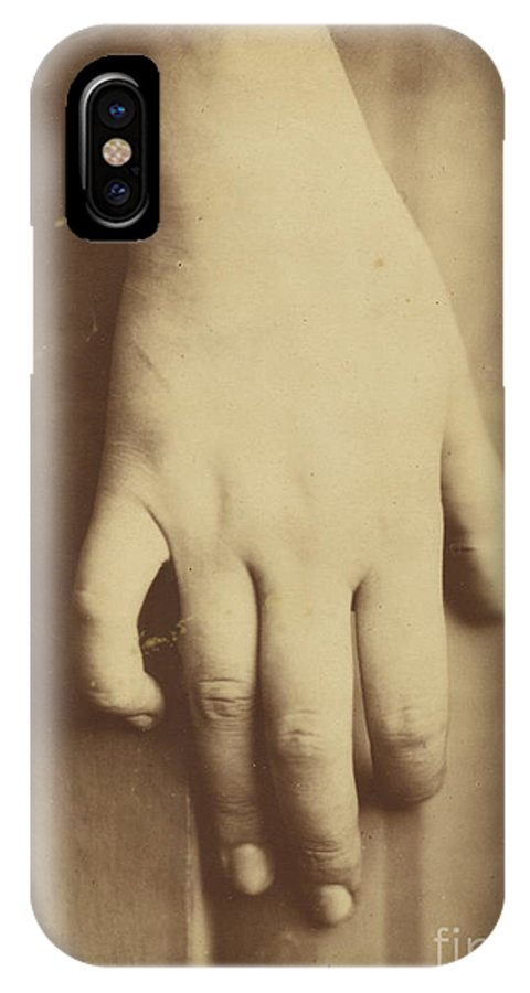 IPhone X Case featuring the photograph Study Of A Hand by European 19th Century