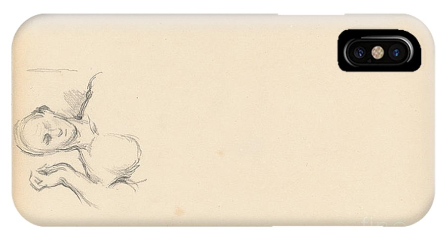 """IPhone X Case featuring the drawing Study Of """"the Roman Orator (germanicus)"""" by Paul C?zanne"""